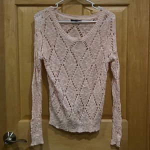 American Eagle pink scoop neck loose knit sweater